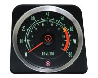 1969 Camaro Tachometer 6000/7000 Redline OE Quality! Original GM# 6469384