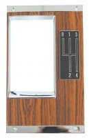 1969 Camaro Console 4-Speed Shift Plate w/Walnut Woodgrain GM# 3949591 & 3919122