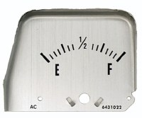 1968 1969 Camaro Console Gauge Fuel Gauge Face Only