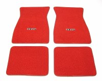 1967 1968 1969  Camaro Carpeted Floor Mats With RS Logo Red