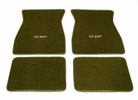 1969 Camaro Carpeted Floor Mats With RS Logo Dark Green