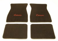 1967 1968 1969  Camaro Carpeted Floor Mats With Camaro Logo Black
