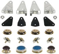 1968 1969 Camaro & Firebird Door Glass Mounting Hardware Kit  RH & LH