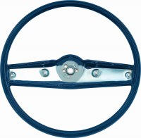 1969 Camaro Standard Steering Wheel Assembly  Dark Blue  GM# 3939732
