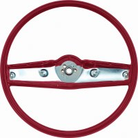 1969 Camaro Standard Steering Wheel Assembly  Red  GM# 3939733