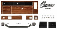 1969  Camaro Rosewood Dash Kit Complete w/Grab Bar & Radio Dash Plates