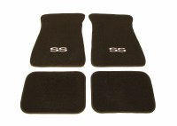1967-81 Camaro Floor Mats Black With SS Logo  Made In The USA!