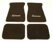 1967-81 Camaro Floor Mats Black With Camaro Logo  Made In The USA!