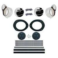 67 68 Camaro & Firebird Dash Astro Ventilation Kit With Chrome Bezels