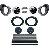 67 68 Camaro & Firebird Dash Astro Ventilation Kit With Black Bezels