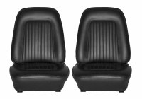 1967 1968 Camaro Standard Interior Bucket Seats Assembled  Black