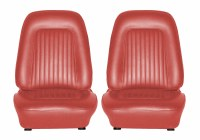 1967 1968 Camaro Standard Interior Bucket Seats Assembled Red