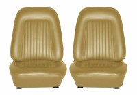 1967 Camaro Standard Interior Bucket Seats Assembled  Gold