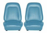 1967 Camaro Standard Interior Bucket Seats Assembled  Light Blue
