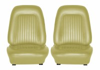 1968 Camaro Standard Interior Bucket Seats Assembled  Ivy Gold