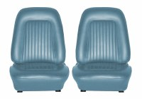 1968 Camaro Standard Interior Bucket Seats Assembled  Medium Blue