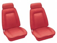 1969 Camaro Standard Interior Bucket Seats Assembled  Red