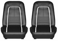 1967 Camaro Deluxe Interior Bucket Seats Assembled  Black
