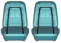 1967 Camaro Deluxe Interior Bucket Seats Assembled  Turquoise