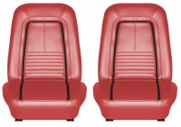 1967 Camaro Deluxe Interior Bucket Seats Assembled  Red