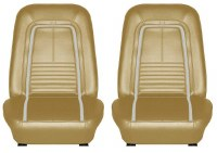 1967 Camaro Deluxe Interior Bucket Seats Assembled  Gold