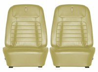 1968 Camaro Deluxe Interior Bucket Seats Assembled  Ivy Gold