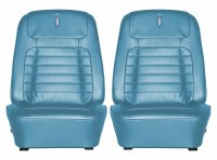 1968 Camaro Deluxe Interior Bucket Seats Assembled  Medium Blue