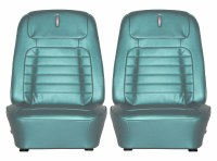 1968 Camaro Deluxe Interior Bucket Seats Assembled  Aqua