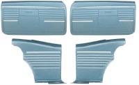 1968 Camaro Coupe Standard Door Panel Kit Pre-Assembled OE Style Medium Blue