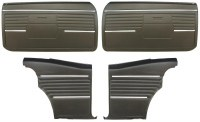 1968 Camaro Coupe Standard Door Panel Kit Pre-Assembled OE Style Black