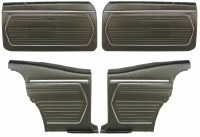 1969 Camaro Coupe Standard Interior Pre-Assembled OE Style Front & Rear Door Panel Kit  Black