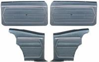 1969 Camaro Coupe Standard Door Panel Kit Pre-Assembled OE Style Dark Blue