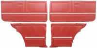 1967 Camaro Coupe Standard Door Panel Kit Pre-Assembled OE Style Red