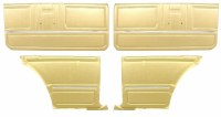1967 Camaro Coupe Standard Door Panel Kit Pre-Assembled OE Style Gold
