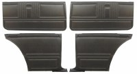 1967 Camaro Coupe Standard Interior Unassembled Door Panel Kit  Black