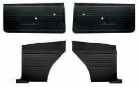 1968 Camaro Coupe Standard Interior Unassembled Door Panel Kit  Black