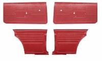 1968 Camaro Coupe Standard Interior Unassembled Door Panel Kit  Red