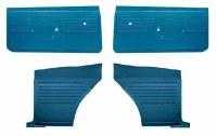 1968 Camaro Coupe Standard Interior Unassembled Door Panel Kit  Medium Blue