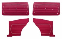 1969 Camaro Coupe Standard Interior Unassembled Door Panel Kit  Red
