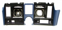 1969 Camaro Dash Cluster Instrument Panel w/Precut For Clock & Tach  Dark Blue