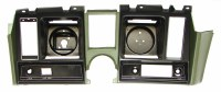 1969 Camaro Dash Cluster Instrument Panel w/Precut For Clock  Dark Green