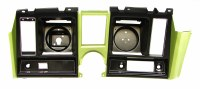 1969 Camaro Dash Cluster Instrument Panel w/Precut For Clock  Light Green