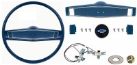 1969 1970 Camaro Deluxe Steering Wheel Kit w/Bowtie Center Cap  Dark Blue