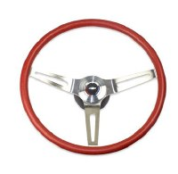 69 70 Camaro Comfortgrip Steering Wheel Kit Red w/Bowtie Horn Cap No Tilt