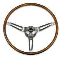 67 68 Camaro Walnut Wood Steering Wheel Kit w/SS Horn Cap No Tilt
