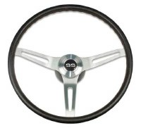 1969-1974 Camaro Comfortgrip Steering Wheel Kit Black w/SS Horn Cap  No Tilt