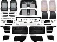 1968 Camaro Convertible Master Deluxe Houndstooth Interior Kit  Black