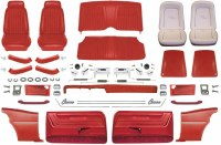 1969 Camaro Coupe Master Deluxe Comfortweave Interior Kit  Red