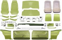 1969 Camaro Coupe Master Deluxe Comfortweave Interior Kit  Moss Green