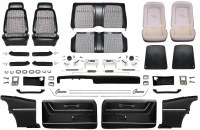 1969 Camaro Coupe Master Deluxe Houndstooth Interior Kit  Black